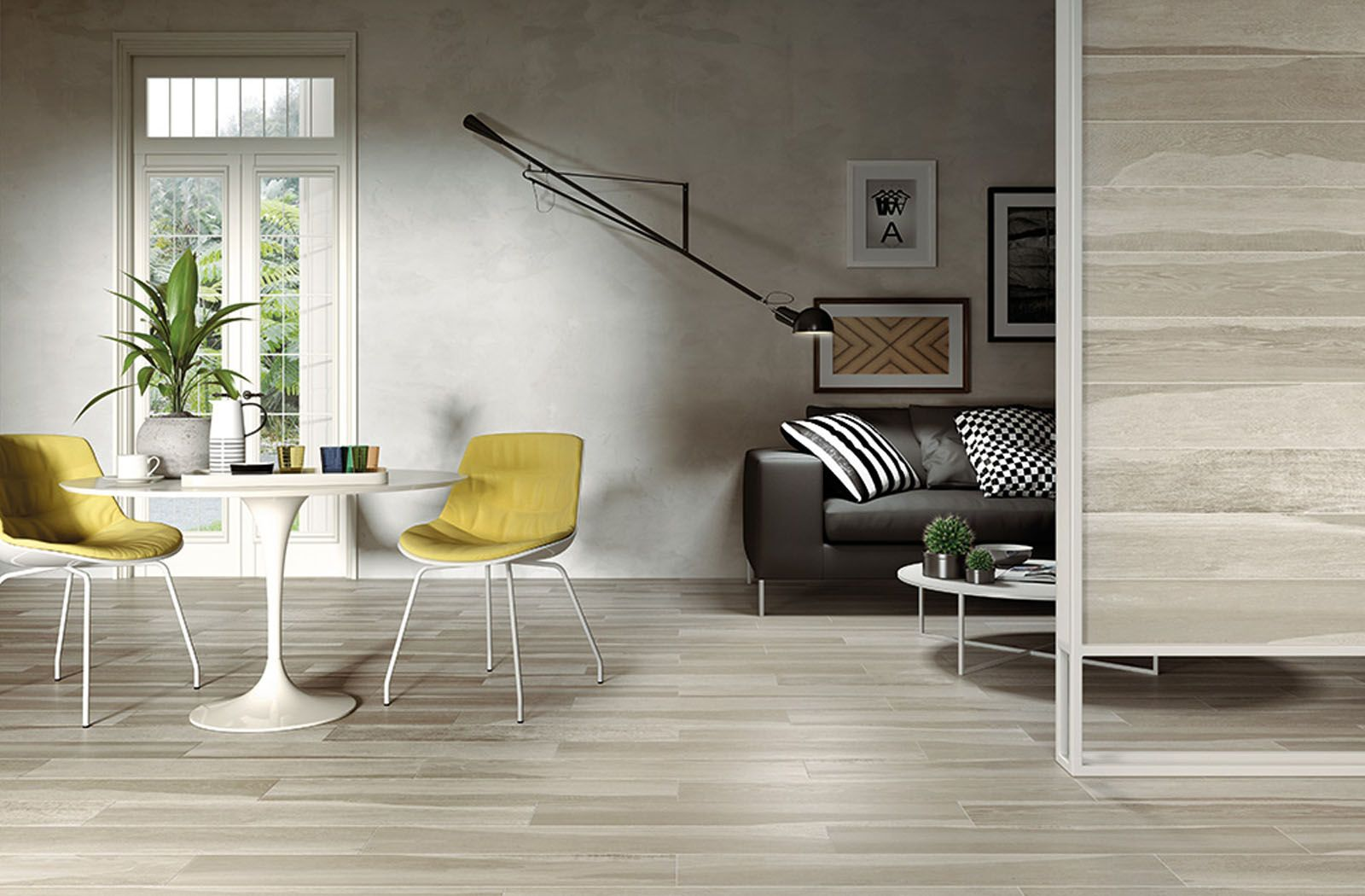 Dining Space In Living Room Floor Tiles Indonesian Wood From Campani Ceramica Dining Room Design Timber Tiles Wood Tile
