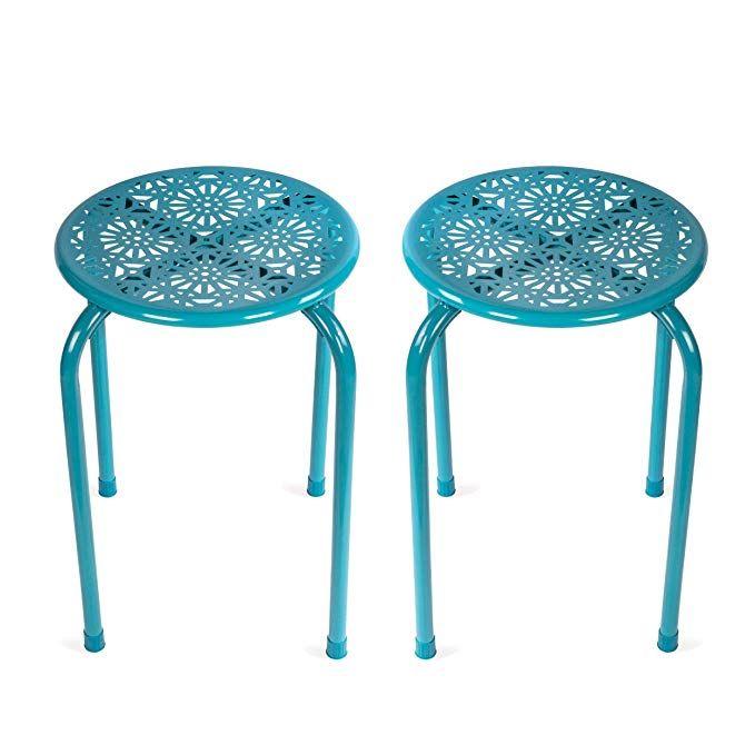 Wondrous Amazon Com Dar Living Daisy Metal Stool Capri Breeze 2 Andrewgaddart Wooden Chair Designs For Living Room Andrewgaddartcom