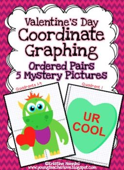 valentine 39 s day activities coordinate graphing pictures ordered pairs 4th grade ccss. Black Bedroom Furniture Sets. Home Design Ideas