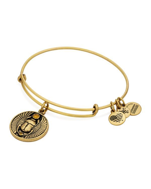 "Alex and Ani Scarab Expandable Wire Bangle | Made in USA | 2.25"" diameter 