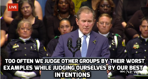 A Quote From Bush S Speech For The Fallen Dallas Police Officers