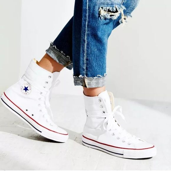 1107f5948f6a Extra high top Converse white NEW 7.5 New in box. The Chuck Taylor All Star  extra Hi top by Converse features  US Womens 7.5 Canvas upper High top  design ...