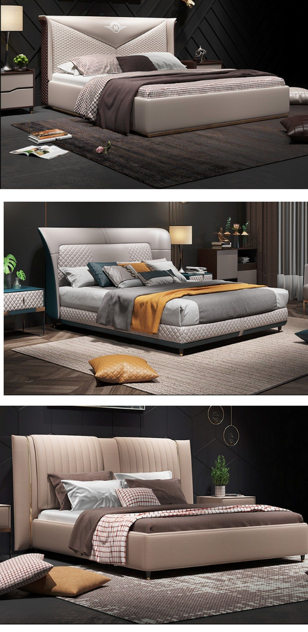 63 Awesome Double Bed Idea 28 Bed Design Modern Bed Design Bedroom Bed Design Double bedroom suite furniture