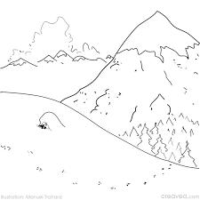 R sultat de recherche d 39 images pour dessin paysage facile - Dessiner un paysage d hiver ...