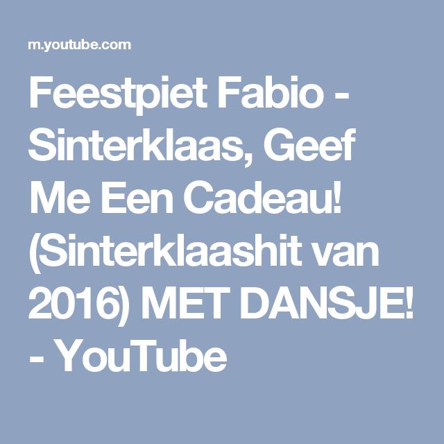 Feestpiet Fabio Sinterklaas Geef Me Een Cadeau