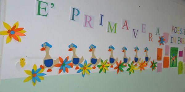 Addobbi di primavera per la scuola dell 39 infanzia e for Addobbi natalizi scuola primaria