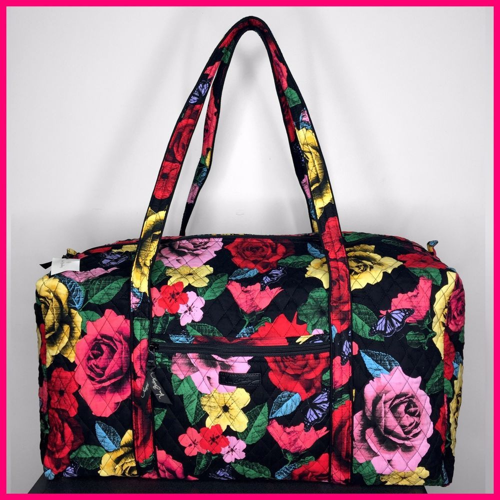 2e6e8bcbc Brand New NWT Vera Bradley Iconic Large Travel Duffel Bag in Havana Rose  Print #fashion #clothing #shoes #accessories #womensbagshandbags ...