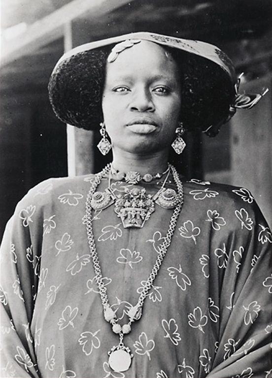 Vintage print timbuktu female nude west africa mali