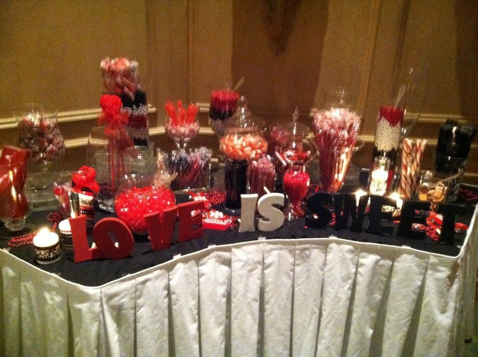 And In Our Red Black White Theme Idea Love The Painted Letters We Would Incorporate More Chocolate