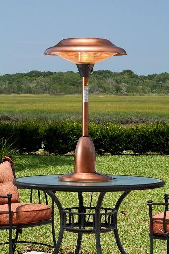 Copper Finish Tabletop Halogen Patio Heater
