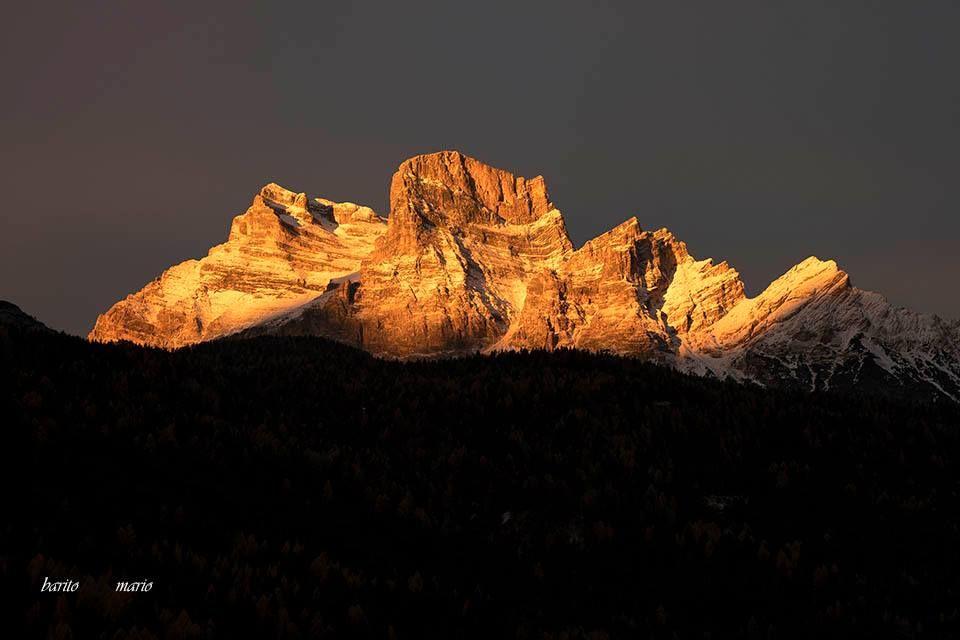 Alba sul monte Pelmo - Dolomites, province of Belluno, Veneto, Northern Italy