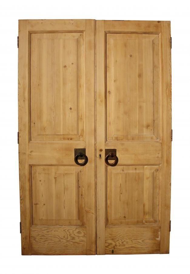 Antique Pine Exterior Double Doors For Sale On SalvoWEB From UK  Architectural Heritage In Herefordshire