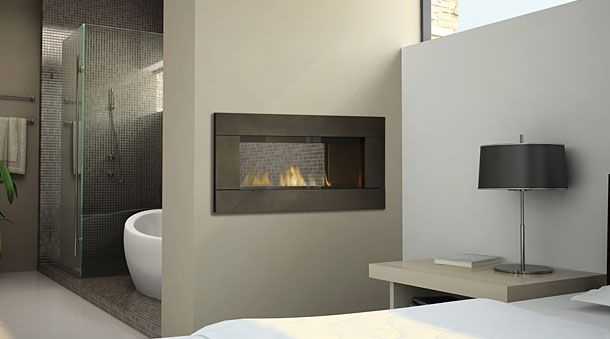 Fireplaces Between Rooms Kitchen Lounge Bathroom Bedroom Bathroom Fireplace Home Contemporary Gas Fireplace