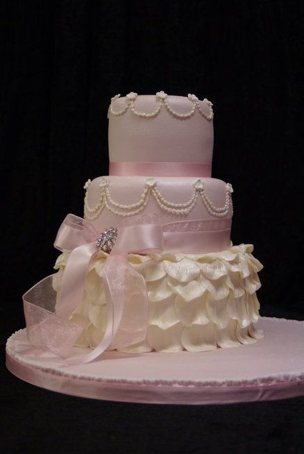 Rose pink petals like the brides dress