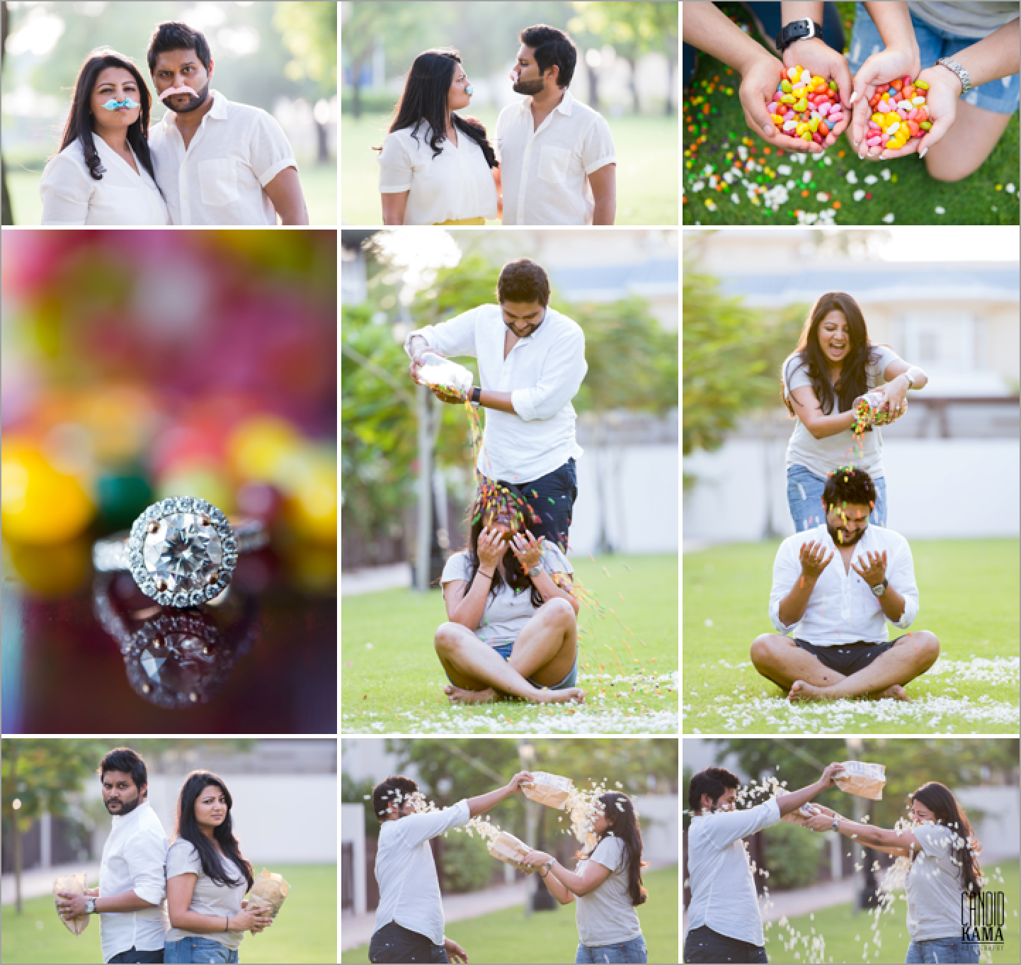Save The Date With Candy Floss, Couple Photography