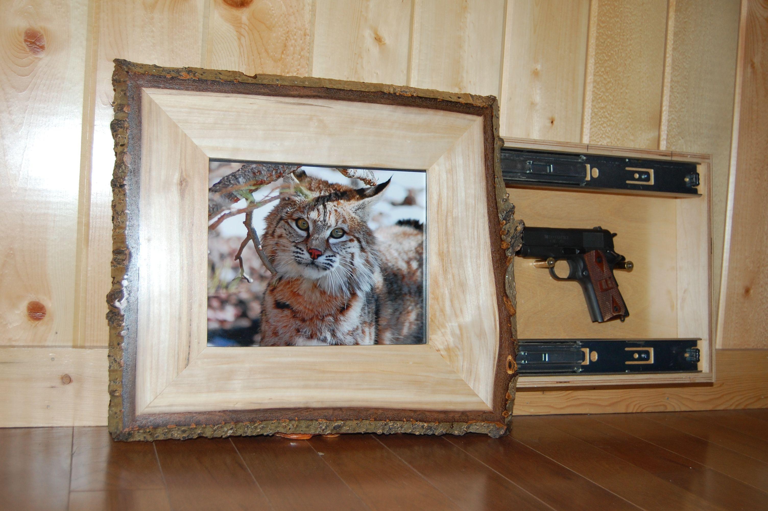 Picture Frame with Hidden Gun Enlosure   Hidden Gun Enclosures ...