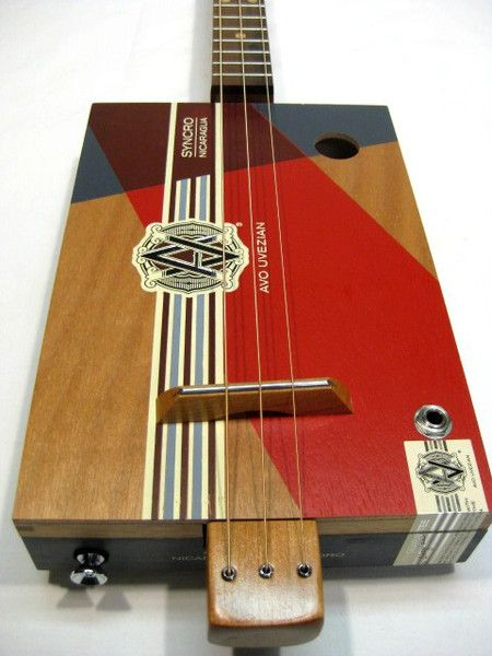 avo uveezian 3 string cigar box guitar for sale snowden guitars cherry neck walnut fretboard. Black Bedroom Furniture Sets. Home Design Ideas