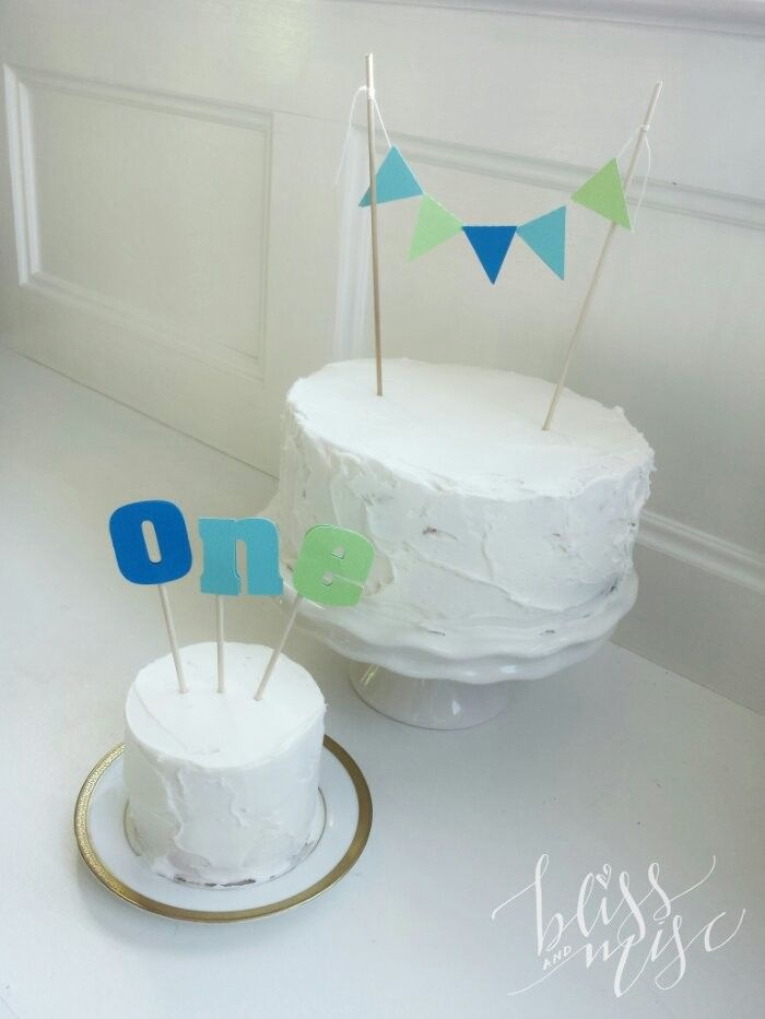 How to Make a Smash Cake baby boy one year old Cakes Pinterest