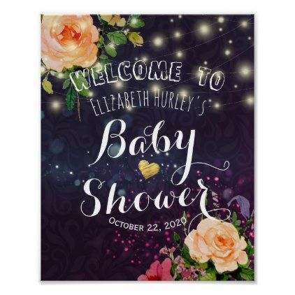 Baby shower welcome floral purple sparkle lights poster floral baby shower welcome floral purple sparkle lights poster floral gifts flower flowers floral gifts pinterest purple sparkle negle Gallery