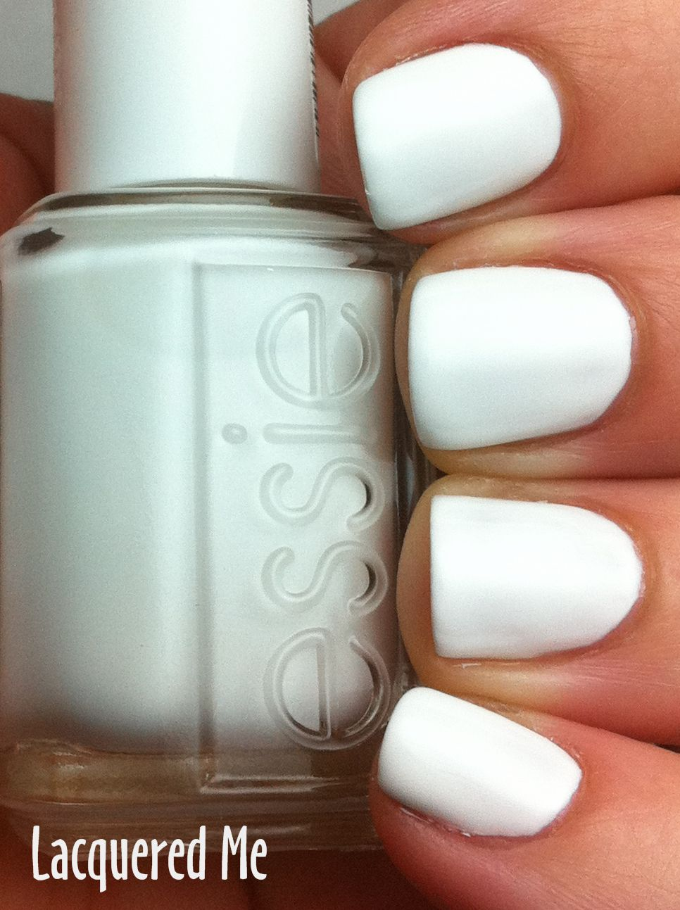 Essie Blanc : essie, blanc, Bright, White...Essie, Blanc, Perfect., Polish,, Essie, White, Nails