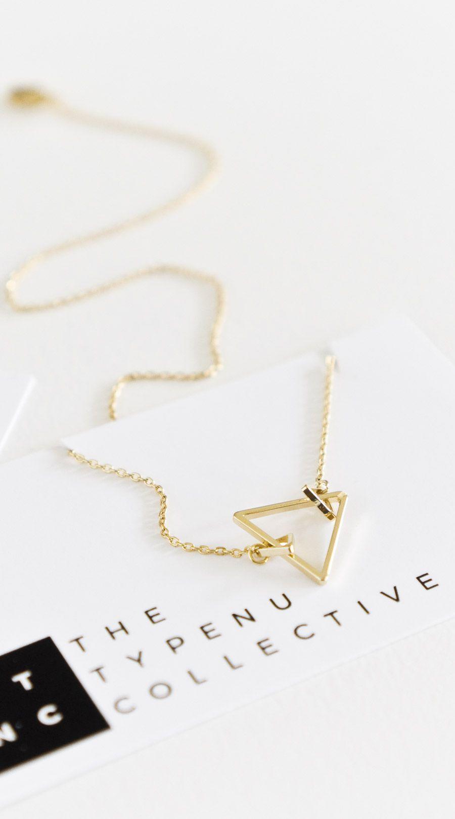 Trinity Triangle Necklace - TYPENU Co