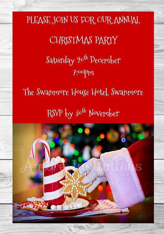 Digital Printable Christmas Santa Claus Party Birthday Invitation