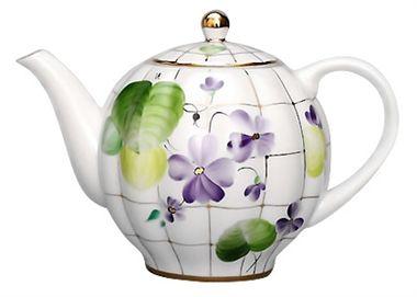 Ekaterina's Imperial Porcelain &Tea. Forest Violet Tea Pot