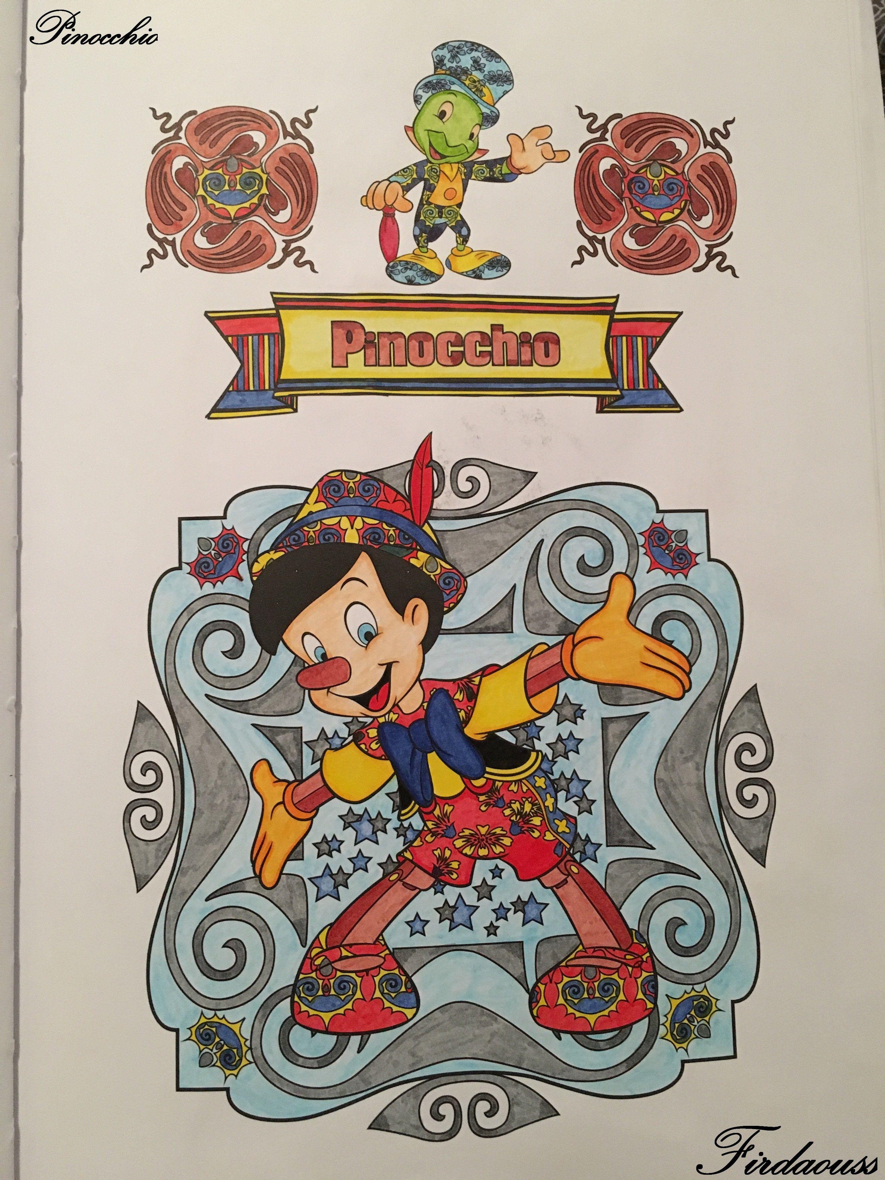 Coloriage Artdeco les classiques disney - Pinocchio | Coloriages ...