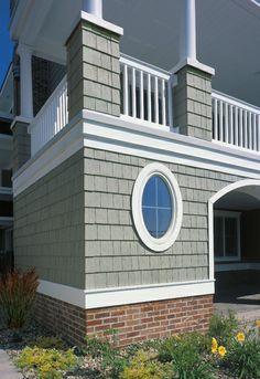 Grey cedar shake vinyl siding small beach house google for Beach house siding ideas