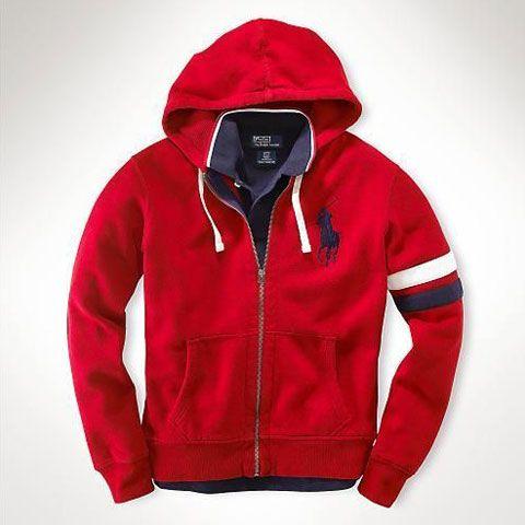 Polo Ralph Lauren Classic Fleece Hoodie In Red Outlet Online. polo ralph  lauren pas cher ... bf6fcecbdf83
