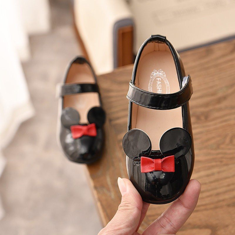 Shoes PU Patent Leather Flats For Girls
