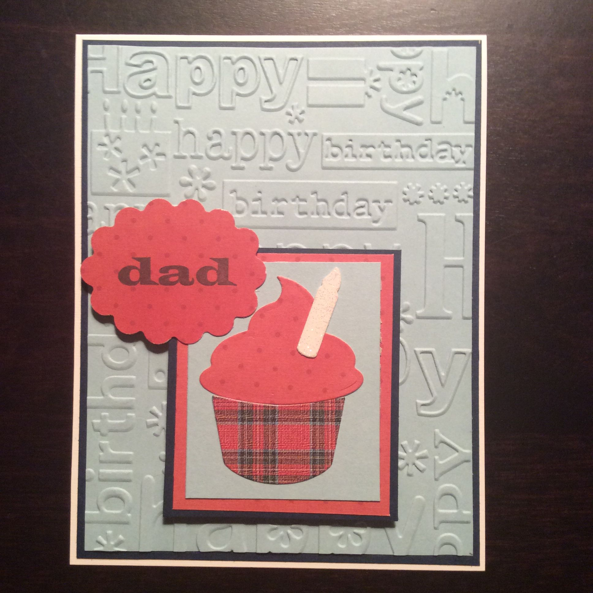 Dad birthday card stampin up cupcake builder birthday cards