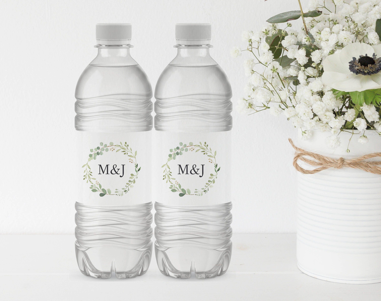 Greenery Wedding Water Bottle Label Template Printable Water Etsy Water Bottle Labels Wedding Wedding Water Bottles Water Bottle Labels Template