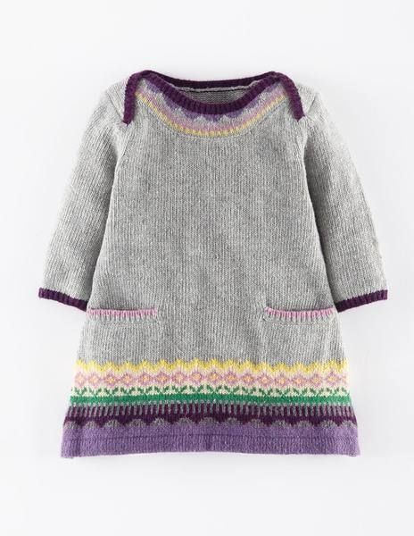 Fair Isle Knitted Dress 71384 Dresses at Boden | bebek,çocuk ...
