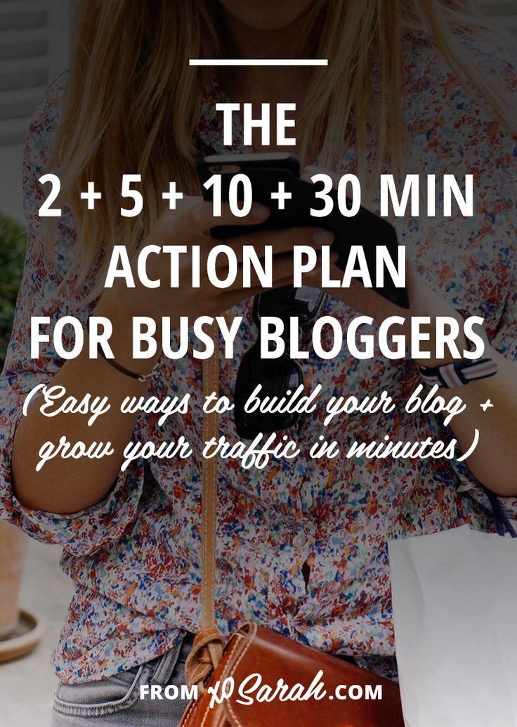 2 minute, 5 minute, 10 minute, 30 minute blog building action plan - 5 minute business plan