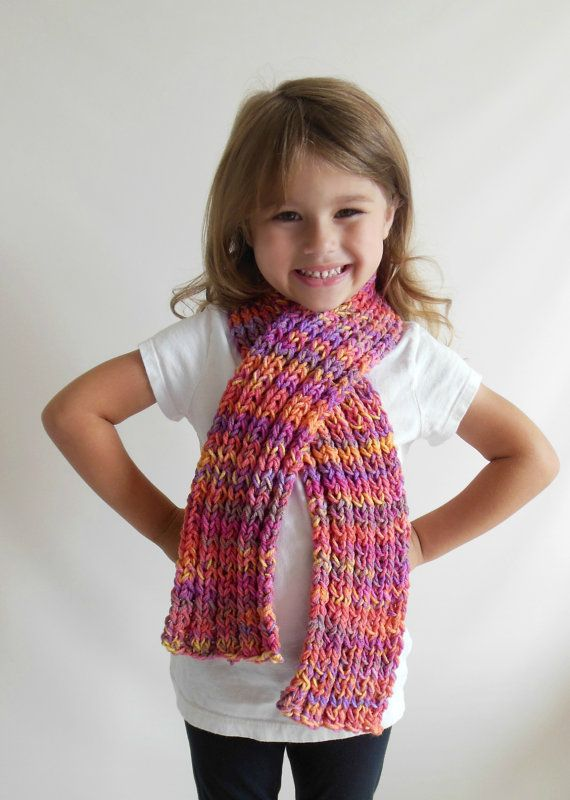 Chunky Knit Scarf in Toddler/Child Size Double by ...