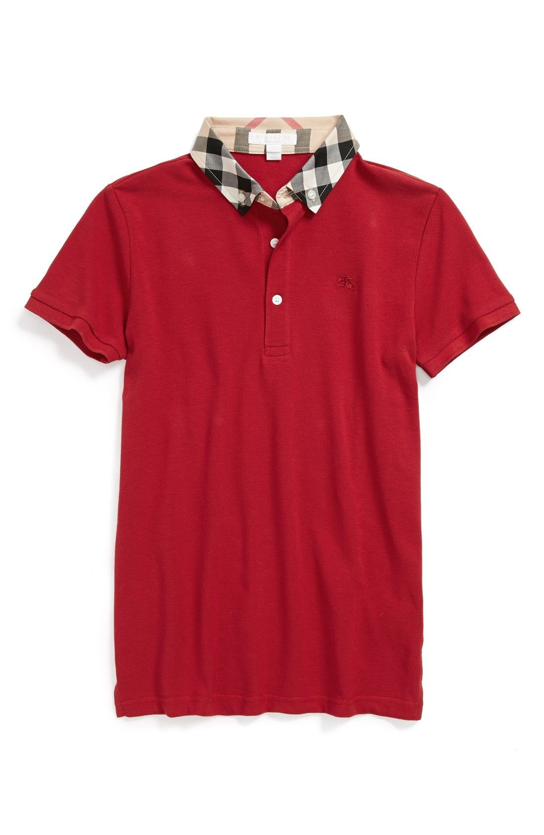f3580bac red Burberry polo shirt | Things for Kids
