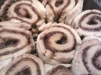 Considering making these cinnamon rolls with my Namaste Foods gluten free flour blend. Mmmm.