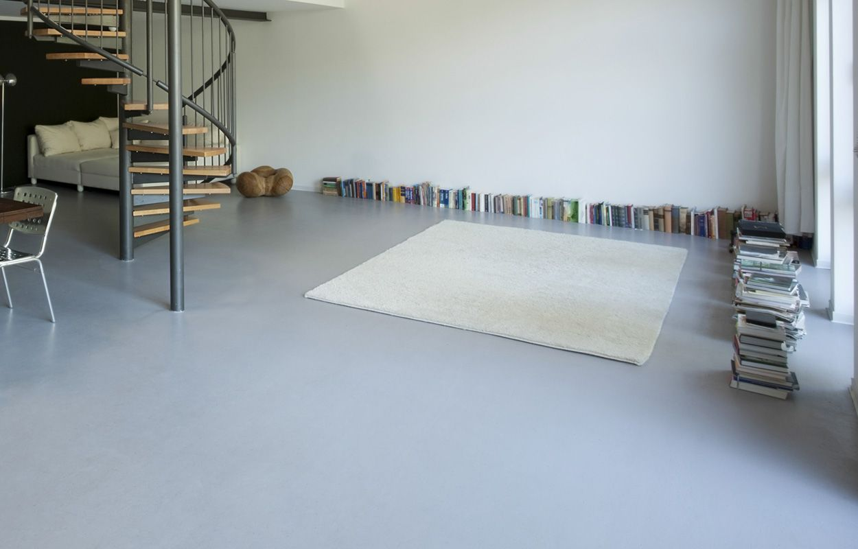 grijze epoxyvloer design floors epoxy and seamless floor
