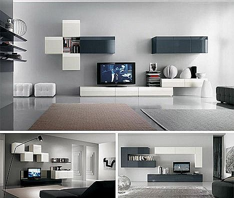 Muebles para salones pequeños modernos: http://fotosdesalas.com ...