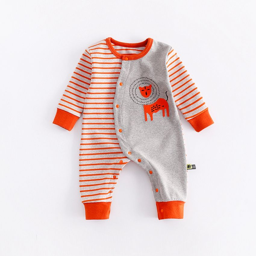 f6f697b6a05 Check out my new Baby s Cool Lion Printed Striped Long-sleeve Jumpsuit