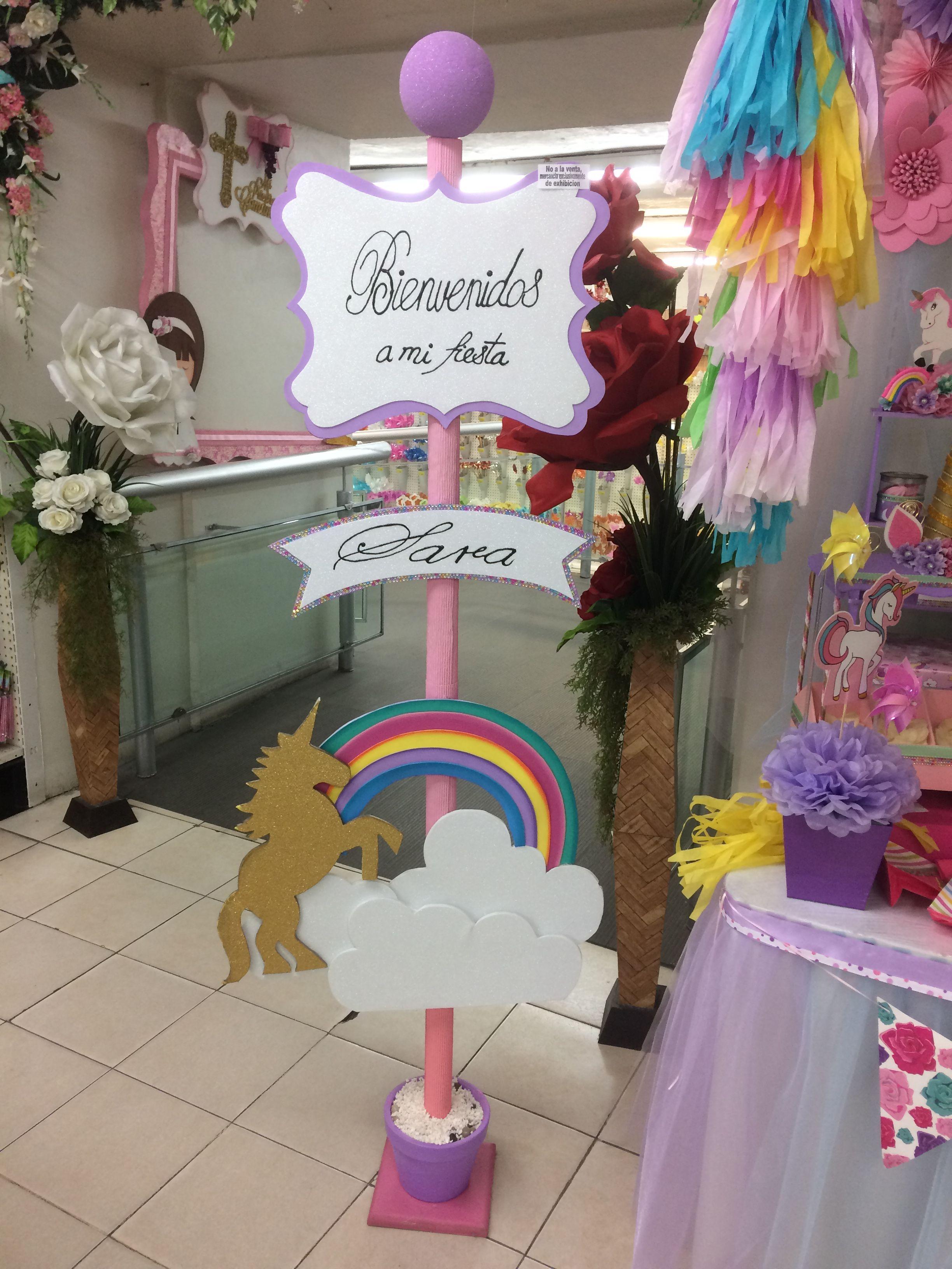 Pin by magali miranda on fiesta tematica unicornios in - Ideas decoracion fiestas ...