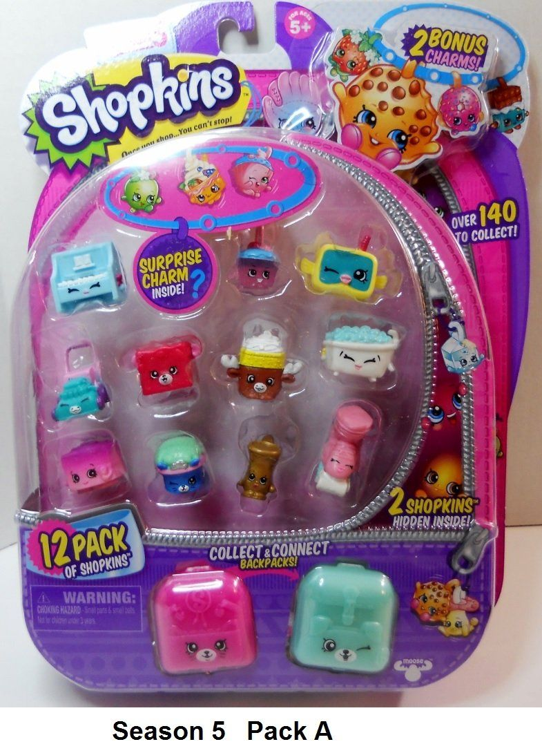 d9b41546a0a Shopkins Season 5 charms backpacks 12 pack   Birthday cakes ...