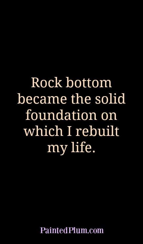 Rock bottom recovery