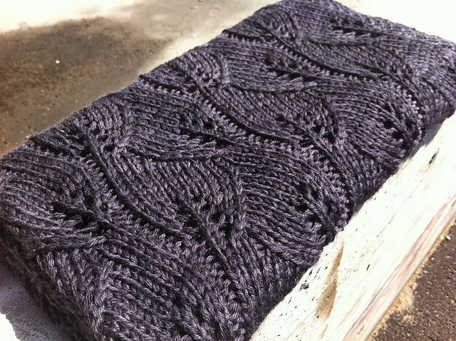 knit leaf pattern. better for throw than baby blanket in my opinion ...