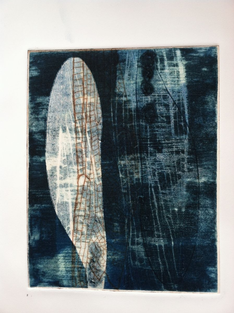 "Contemporary Printmaking - ""Wings 10"" (Original Art from Paula Zinsmeister)"