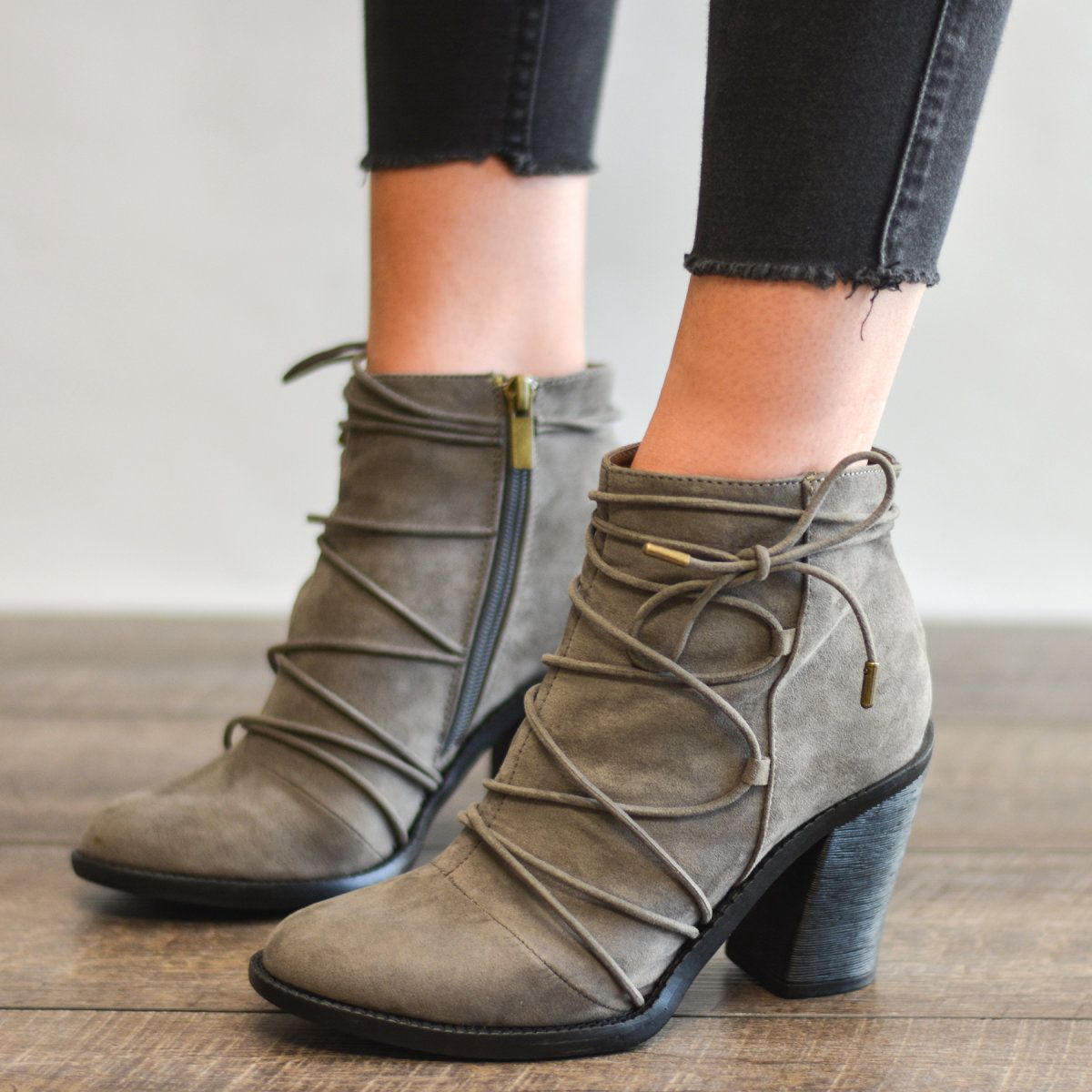 Laced Ankle Boots | 3 Colors