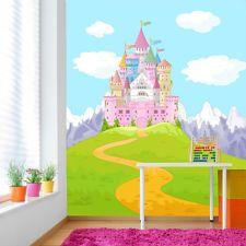 Cool Pink Princess Castle Cartoon M rchen u Fantasy Tapete Kinder Fototapete