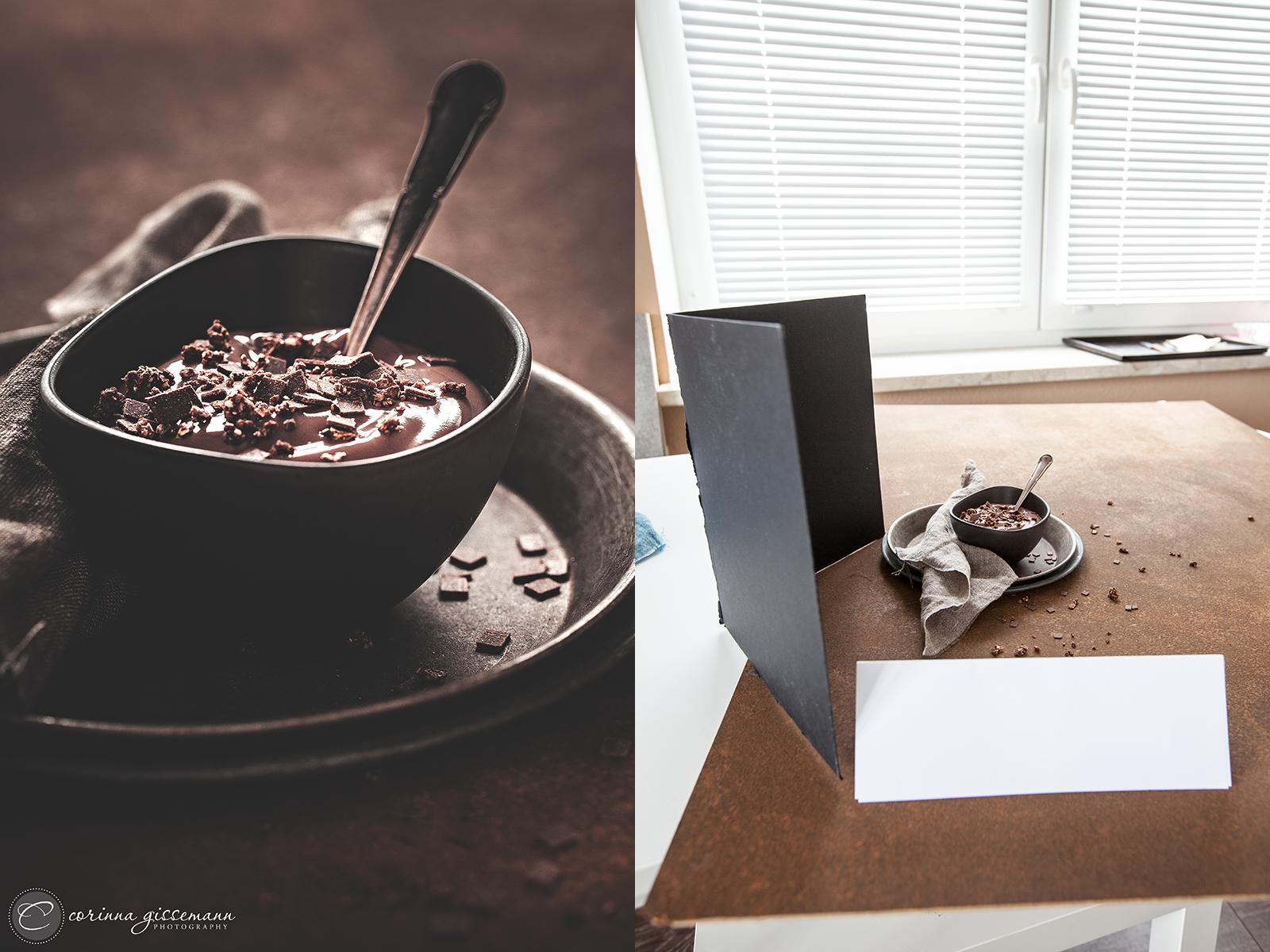 Foodfotografie Making Of Moody Schokoladenpudding Und Wie Er