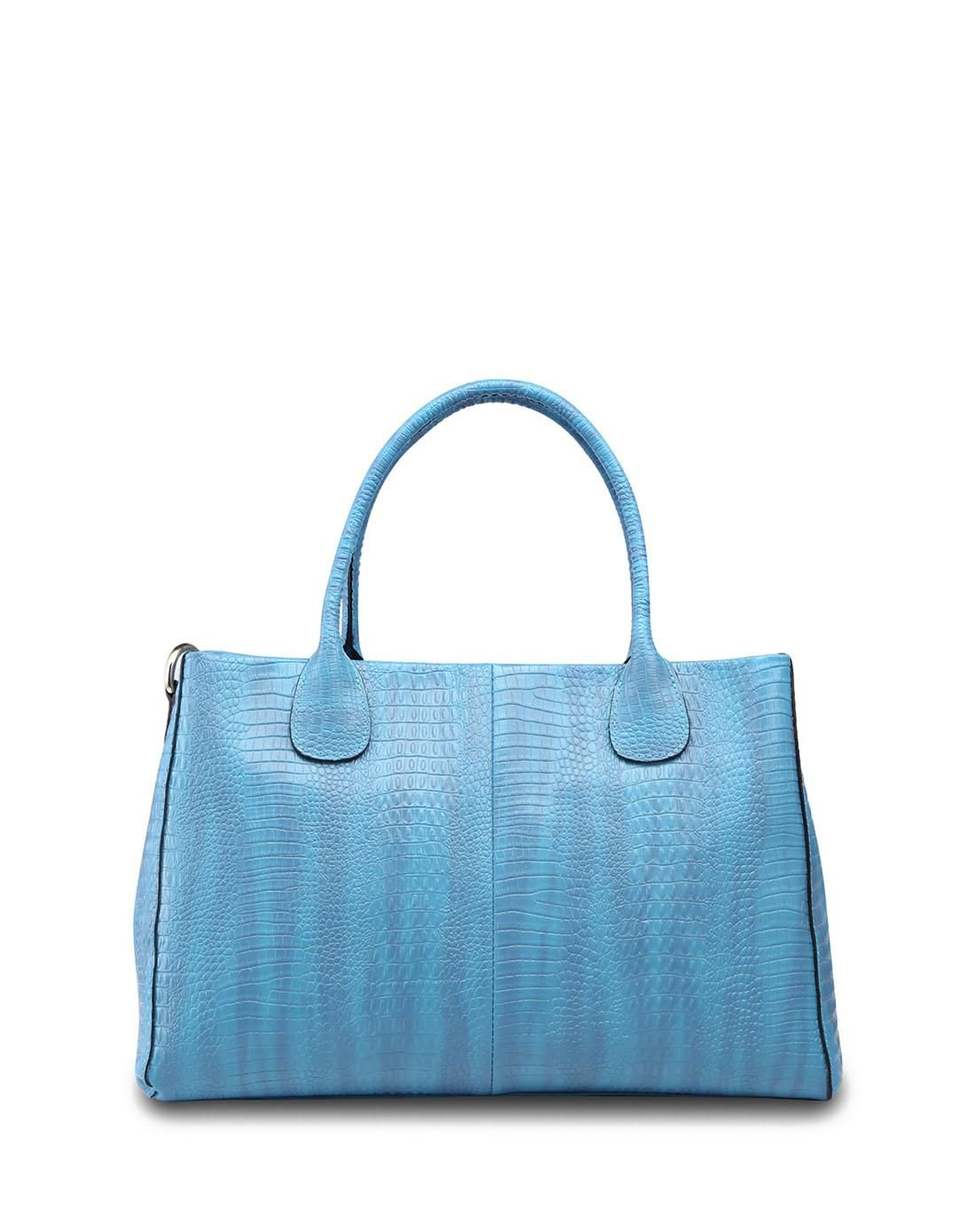 eaa4f5fe0d0a  AdoreWe  VIPme Totes - Meidu Blue Leather Crocodile Classic Tote - AdoreWe .com